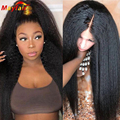13x4 Lace Front Wig Pre Plucked Kinky Straight Lacefront Frontal Human Hair 4x4 Closure Yaki Wigs for Black Women 28 Inch
