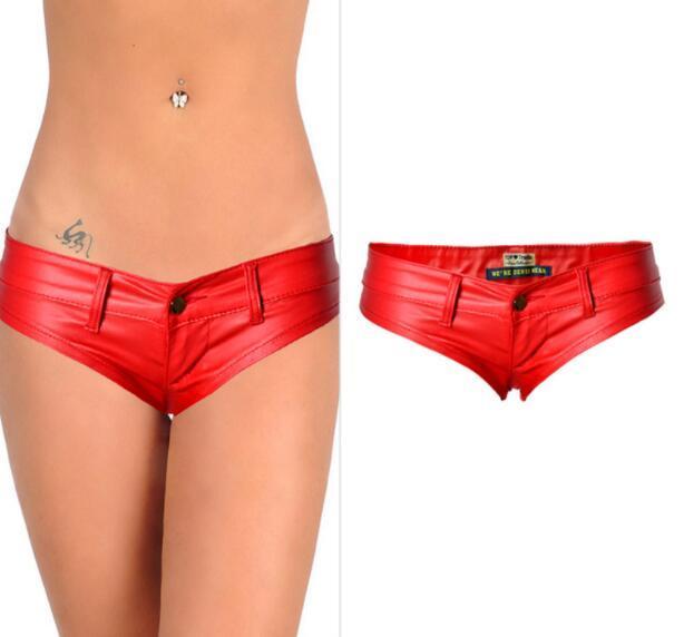Sexy Shorts Womens Low Waist Short Shorts Pu Mini Shorts 2021 4