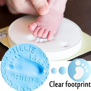 30g/pack Baby Record Growth Baby Care Air Drying Soft Clay Baby Handprint Footprint Imprint Kit Casting Parent-child Hand Inkpad