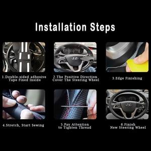 Image 5 - Auto Braid na pokrywie kierownicy dla Honda Civic 8 2006 2011 (2 Spoke) stylizacja samochodu do naszycia osłona na kierownicę do samochodu