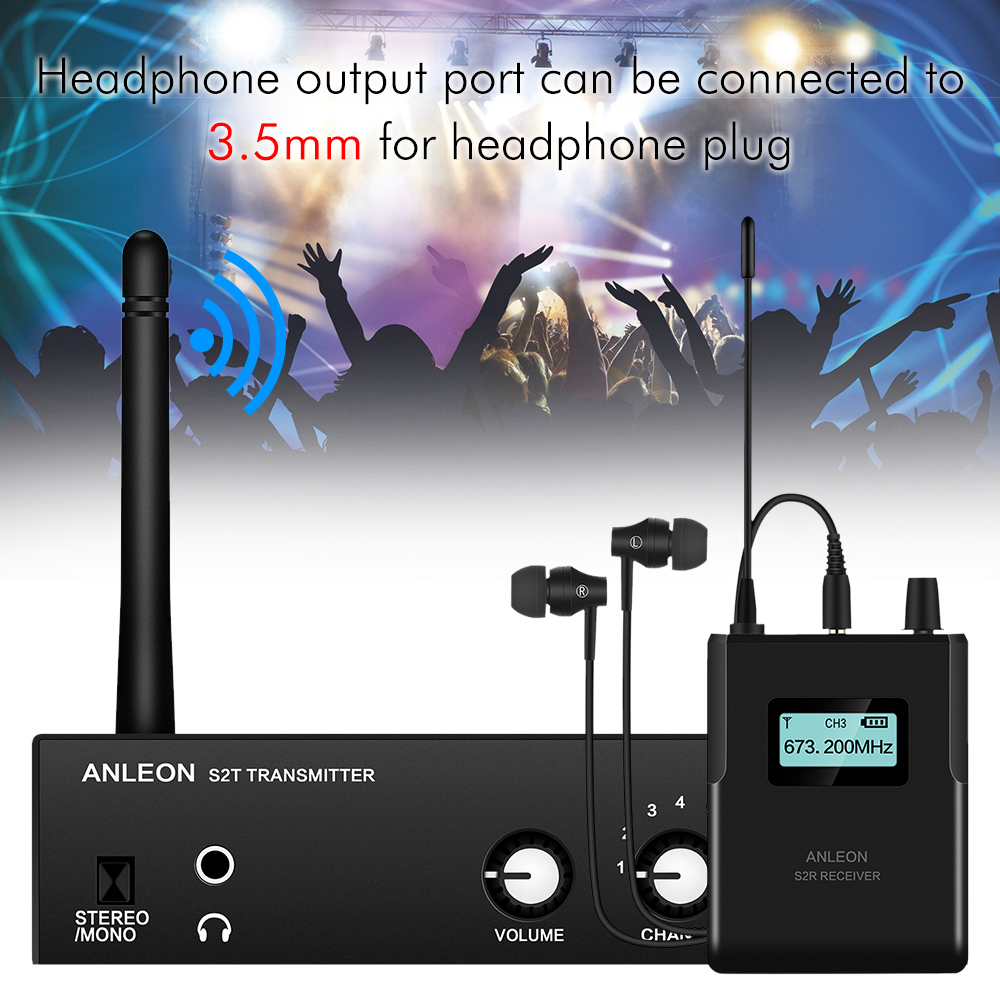 NEW For ANLEON S2 Wireless In-ear Monitor System UHF Stereo IEM System Stage Monitoring 863-865Mhz NTC Antenna Xiomi