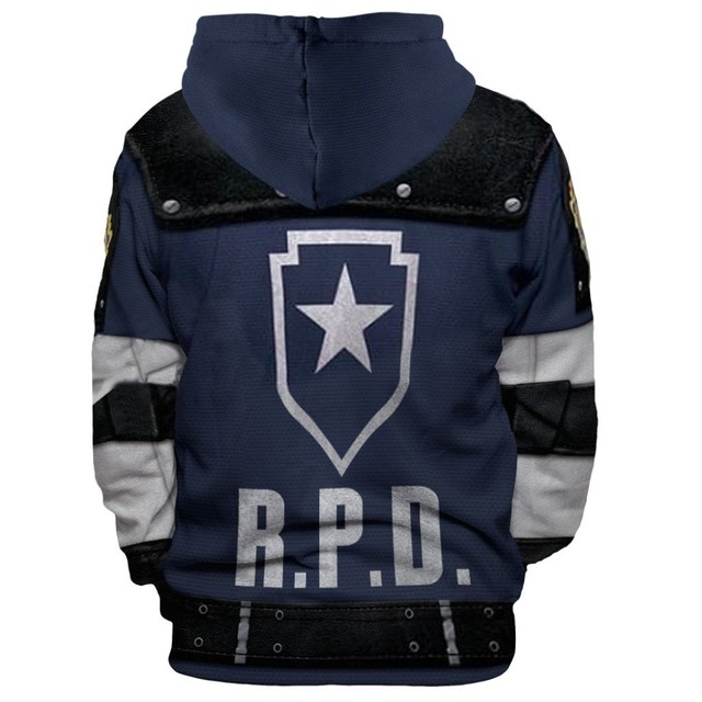 New style Resident Evil Leon 'S Kennedy 3D printed hooded hoodie cosplay anime peripheral