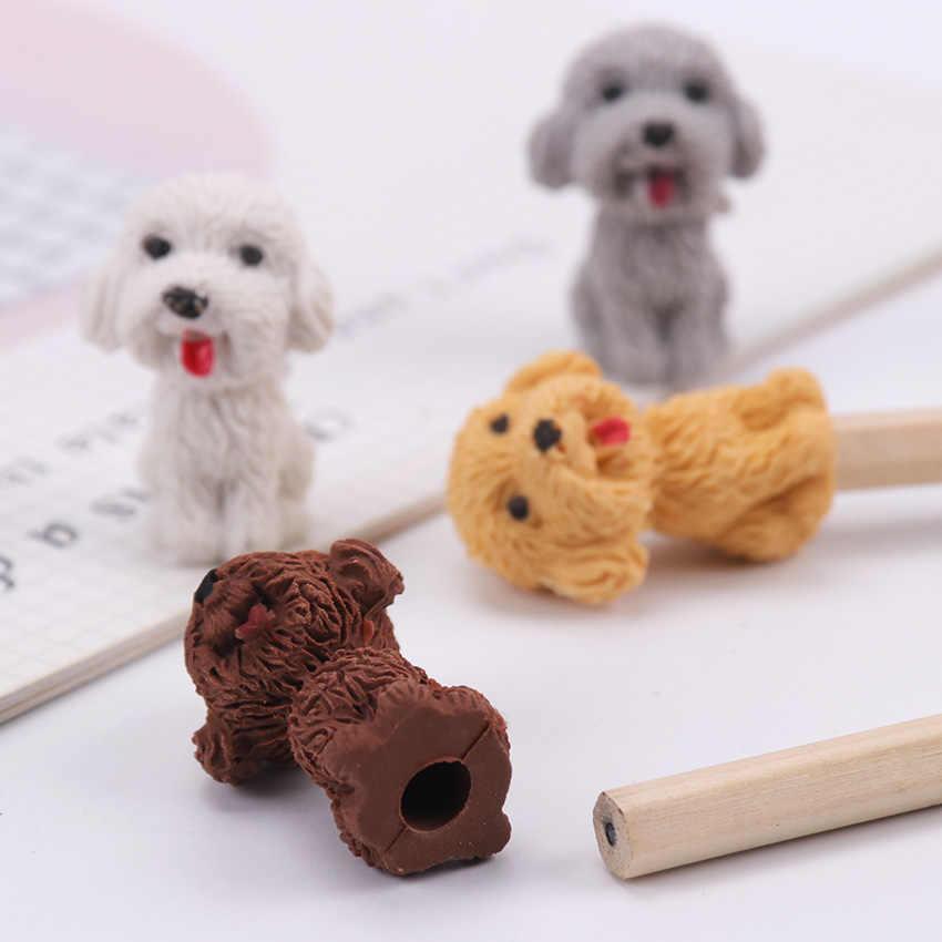 1PC Kreative Niedlichen Cartoon Hund Radiergummi Kawaii Briefpapier Bleistift Gummi Radiergummi Student Kinder Geschenke Schule Büro Liefert