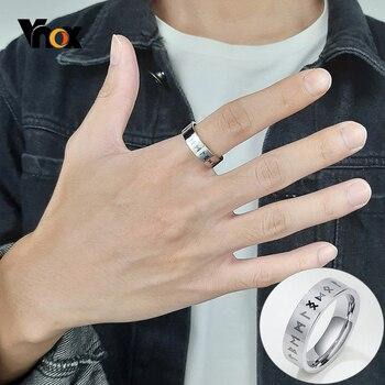 Vnox-anillo de acero inoxidable con amuleto para hombre, sortija Retro, Odín, nórdico, Vikingo, boda, regalo para dedo, joyería