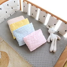 Minky Dot Baby Fitted Crib Sheet for Newbrons Winter Fannel Solid Bed Sheet Soft Crib Bed Sheet For Children Mattress Cover
