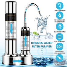 Stainless Steel Water Purifier Kitchen Faucet Washable Ceramic Percolator Mini Water Rust Bacteria Removal Replacement Filter