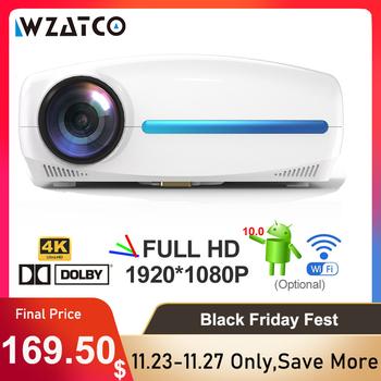 WZATCO-Projektor kino domowe 4K C2 jakość Full HD rozdzielczość 1080p LED z Android 10 Wi-Fi na Smart Home z definicją AC3 200 #8221 z 4D Digital Keystone tanie i dobre opinie Instrukcja Korekta CN (pochodzenie) Projektor cyfrowy 4 3 16 9 220W Focus 2500 Led Ansi 1920x1080 dpi 6800Lumens 40-200 cali