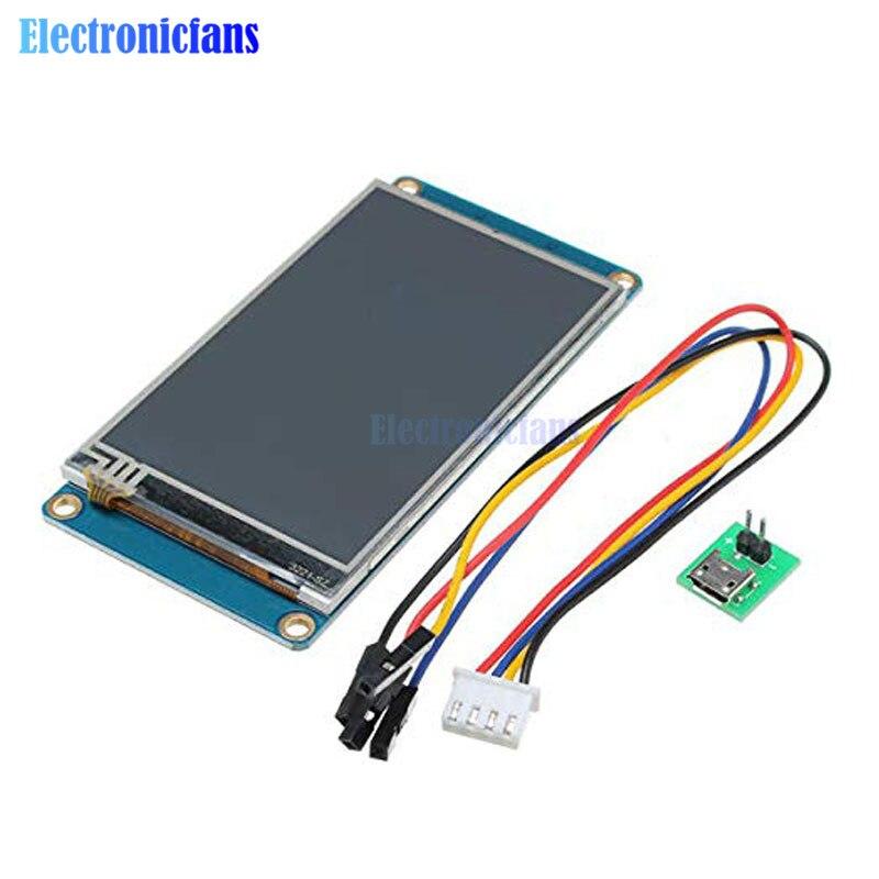 3,2 pulgadas Nextion HMI inteligente UART serie SPI Touch TFT LCD módulo 400x240 Panel de visualización para frambuesa pi 2 A + B + UNO R3 Mega Para Arduino UNO R3 Mega2560 TFT LCD, pantalla de visualización táctil, pantalla táctil de 2,4 pulgadas, módulo LCD, 18 bits, 262.000 pantallas diferentes