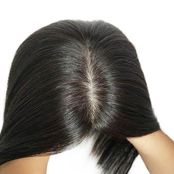 10 #8222 12 #8221 14 #8222 ludzki włos peruka na czubek głowy dla kobiet 12*12 oddychające MONO PU podstawa z włosy clip in peruka Remy włosy tanie i dobre opinie isheeny = 35 6 miesięcy WOTB 12cm*12cm Indyjski włosy Koronki i PU