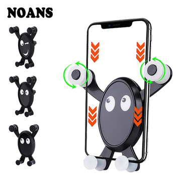 NOANS Car Styling Mobile Phone Holder Expression Bracket Accessories For Jeep grand cherokee Lada Vesta Renault captur Logan 4 image