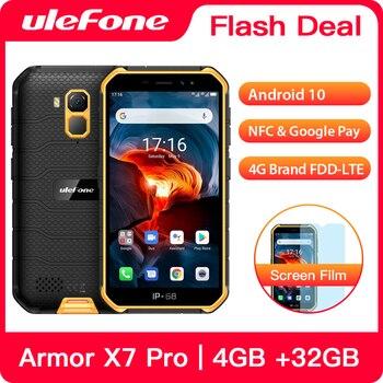 Ulefone armadura X7 Pro resistente Smartphone 4GB RAM Android 10 teléfono celular ip68 Quad-core NFC 4G teléfono móvil impermeable