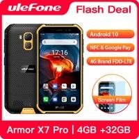 Ulefone armor x7 pro smartphone áspero 4gb ram android 10 telefone celular ip68 quad-core nfc 4g telefone móvel à prova dwaterproof água