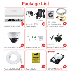 Image 5 - Dahua 4MP 8+4 Security CCTV Camera Kit NVR4108 8P 4KS2 IP Camera IPC HDBW4433R ZS 5X ZOOM P2P Surveillance Kits Easy Install