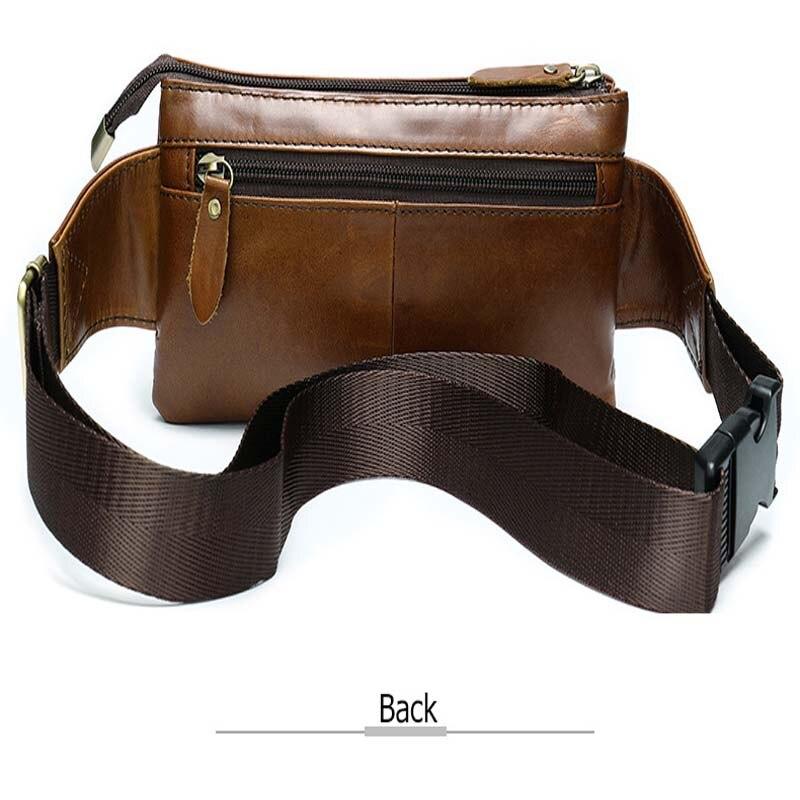 Bandolera para hombre, marrón oscuro, bolso de pecho diario, de alta calidad, de gran capacidad, bolso de hombro de cuero dividido para iPad nuevo - 2