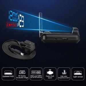 Security-Alarm Hud-Mirror Head-Up-Display Speed-Projector Car Turbo-Pressure Digital