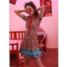 Шанхай история Ципао Женские винтажные китайские платья-Ципао с принтом