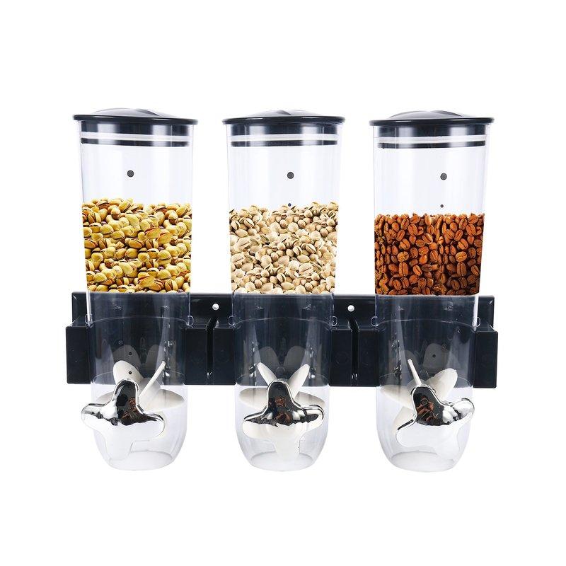 2019 nuevas latas de almacenamiento de alimentos secos de Cereal selladas de cocina cajas de aperitivos para el hogar semillas de melón tuercas dispensador de caramelos