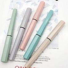 Kawaii platina caneta pequena meteoro macaron cor anti-rolamento caneta material do estudante acessórios de escritório para crianças PQ-200