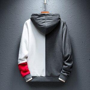 Image 4 - SingleRoad Mens Fashion Hoodies Men 2020 Winter Hip Hop Japanese Streetwear Harajuku Colorblock Patchwork Sweatshirt Hoodie Men
