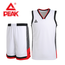 цены PEAK Men Basketball Competition Sets 2 Pieces Polyester Breathable Vest top + Shorts Summer Outdoor Sports Suits Running shorts