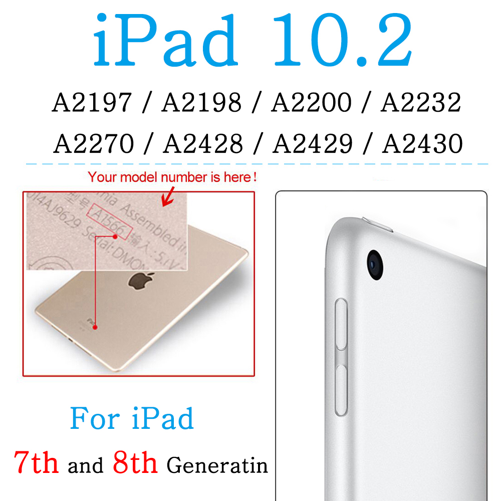 For iPad 7th 8th Gen White Shockproof soft silicone case for Apple iPad 10 2 7th 8th Generation Air 4 10 9