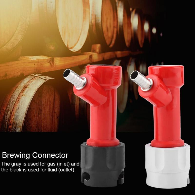 2PCS 1/4 Tall PLASTIC Pin Lock Corny Keg Home Brewing Connector Coupler Set Home Brew Beer Kegs Dispenser Beer Tools 2019