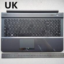 Великобритания серый цвет новая клавиатура для ноутбука с тачпадом Упор для рук для samsung RC510 RC520 BA75-02836A