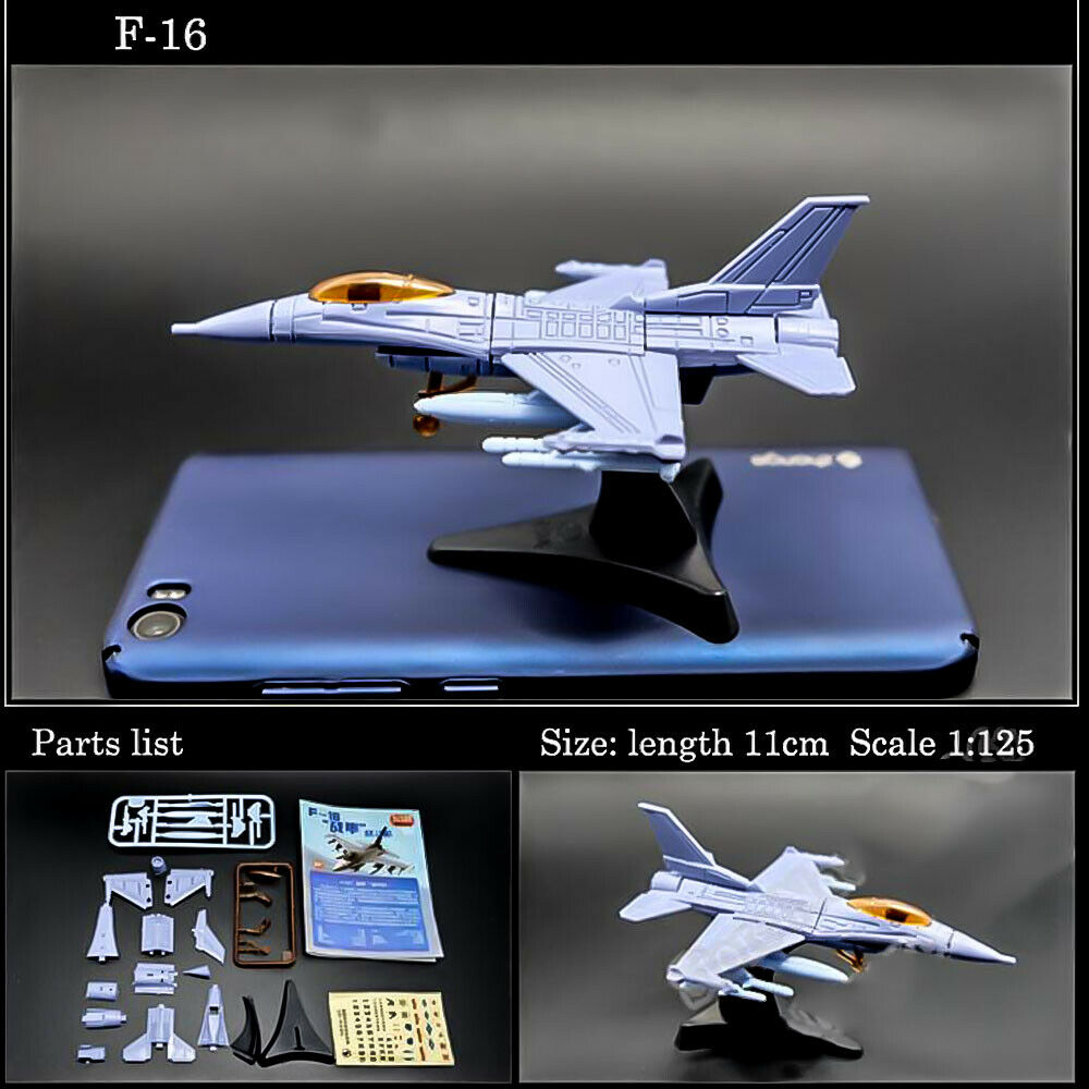 F-16  Fighting Falcon 4D Assembly Fighter  Model Collection Puzzle Figure Toy
