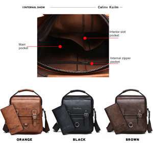 Image 5 - Celinv Koilm Брендовые мужские сумки новые мужские сумки через плечо Большая вместительная кожаная сумка мессенджер для мужчин крутая Новинка для путешествий