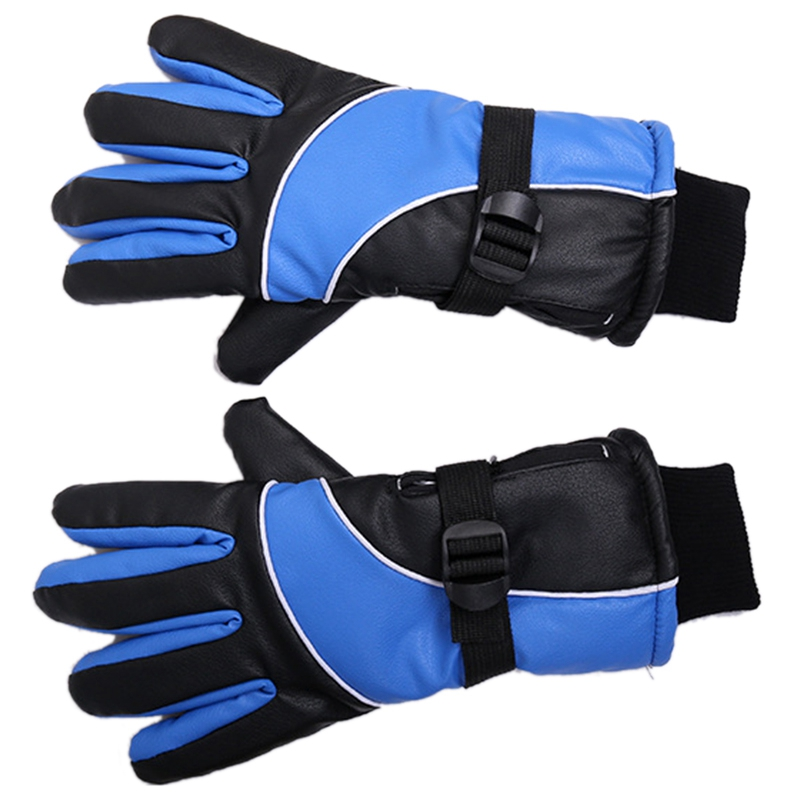 Lithium Battery Charging Electric Heating Gloves Heating Gloves Winter Outdoor Sports Waterproof Gloves US Plug