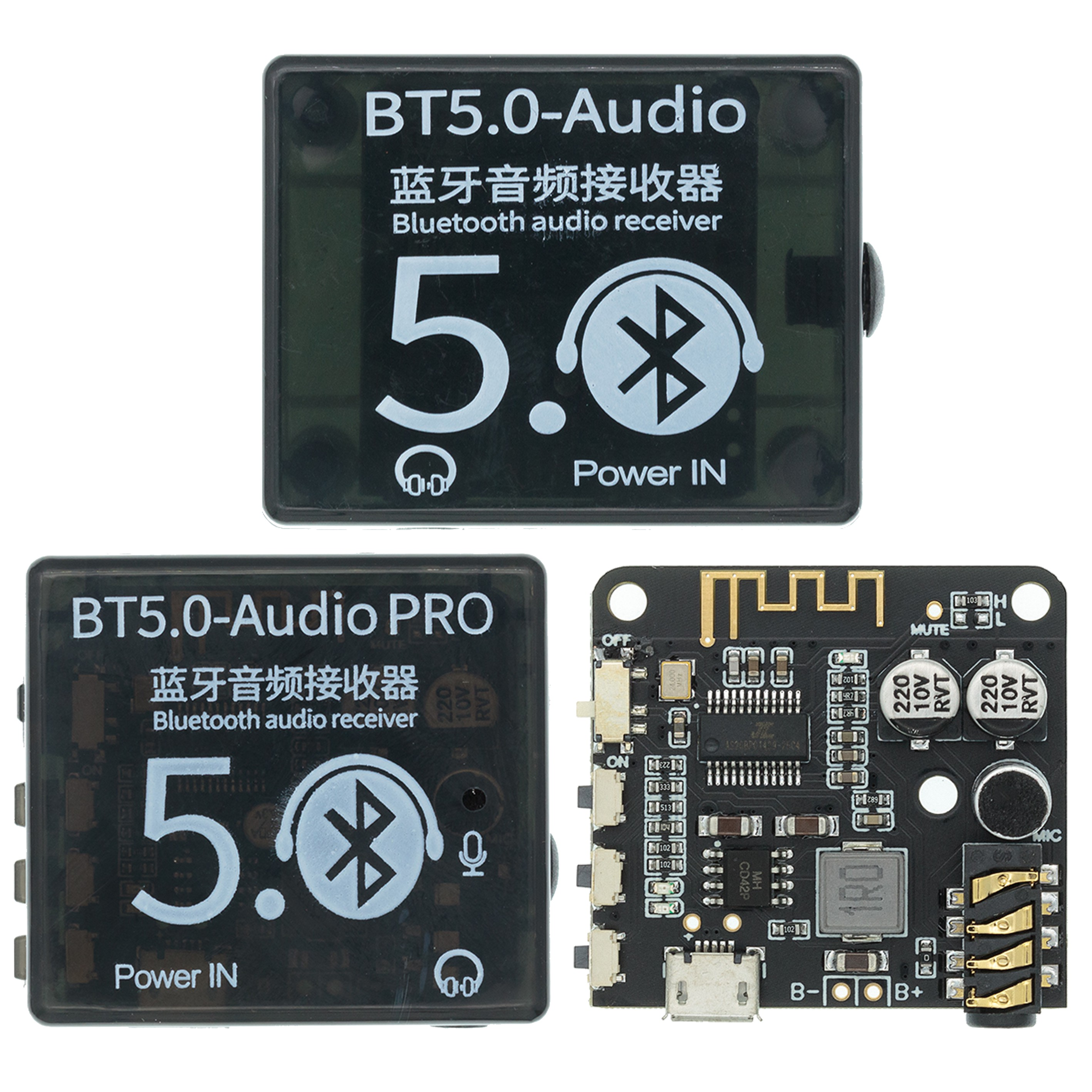 Mini Bluetooth 5.0 Decoder Board Audio Receiver BT5.0 PRO MP3 Lossless Player Wireless Stereo Music Amplifier Module With Case