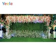 Yeeleงานแต่งงานผ้าม่านดอกไม้ภาพที่กำหนดเองการถ่ายภาพฉากหลังการถ่ายภาพสำหรับสตูดิโอถ่ายภาพ