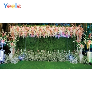 Image 1 - Yeele Свадебная церемония, вечеринка, занавес, цветы, портрет, Индивидуальные фотографии, фоны для фотостудии
