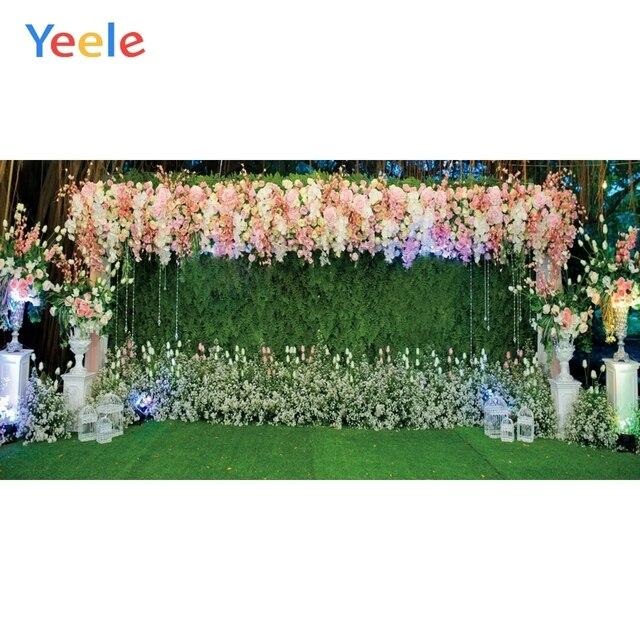 Yeele Свадебная церемония, вечеринка, занавес, цветы, портрет, Индивидуальные фотографии, фоны для фотостудии