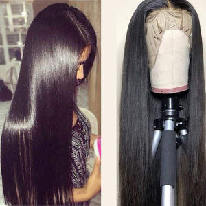 Image 2 - Frontal Wig Human Hair Wigs Straight Pre Plucked 4*4 13*4 Lace Unprocessed Remy Hair Brazilian Hair Lace For Women 150density