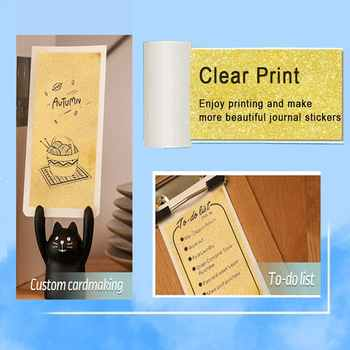 Phomemo Self-Adhesive Transparent Gold Thermal Paper Roll for Phomemo M02/M02S/M02 Pro Photo Printer Printable Sticker Paper
