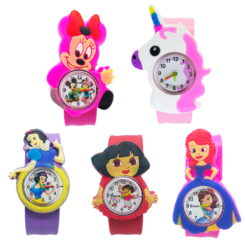 Low Price High Quality Cartoon Baby Watch For Children Boys Student Clock Silicone Tape Patted Wrist Watches For Kids Girls Gift