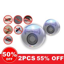 50% OFF HOT!! Pest Anti Insect Reject Ultrasonic 300 Square Meters Of Coverage Pest Repeller Rat Fly Mosquito Killer Pro