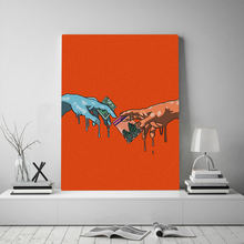 Картина на холсте hd Микеланджело эстетика смешные Современные