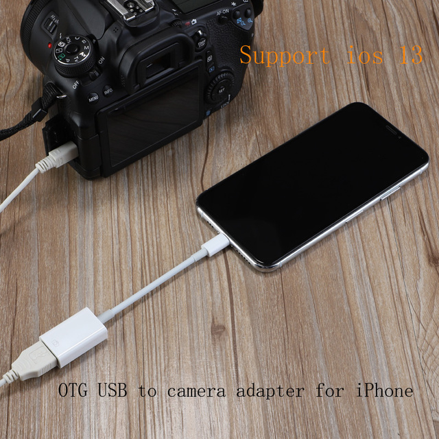 OTG USB to camera adapter for USB cable earphones converter Electric piano MIDI Keyboard for  7 8 ios 13 adapter
