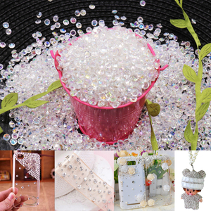 Hot 1000pcs 4.2mm Acrylic Diamond Crystal Bling Transparent Confetti For Wedding Party Decoration Confetti Table Scatter Beads(China)