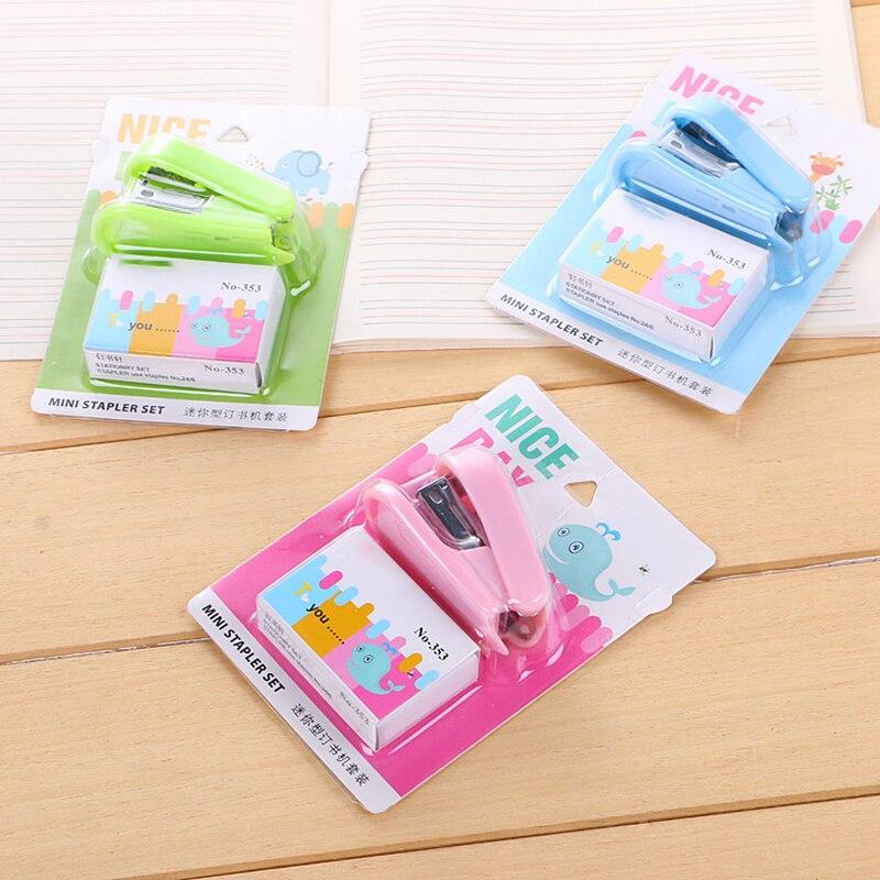 Креативный цветной 12 # мини-степлер, офисный милый набор, подарки, вещи, принадлежности для студентов, бумага, кавайные канцелярские