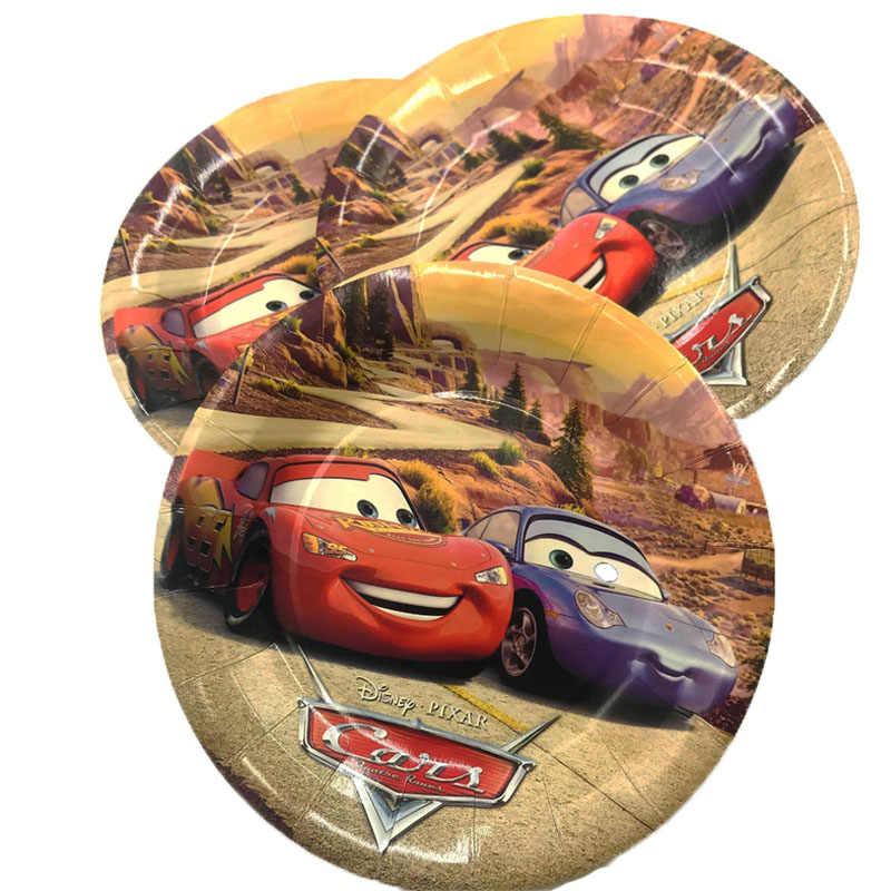 6 ชิ้น/ถุง Lightning McQueen PARTY Supplies กระดาษแผ่นจานเค้กเด็กวันเกิดทารกอาบน้ำตกแต่งแผ่น 7 นิ้ว