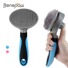 Benepaw Efficient Self Cleaning Slicker Pet Grooming Brush For Small Large Dogs Cats Comfortable Safe Anti slip Comb For Pets