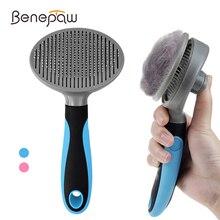Benepaw brosse auto nettoyante efficace pour animaux domestiques, peigne de toilettage pour petits et grands chiens et chats, confortable et antidérapant