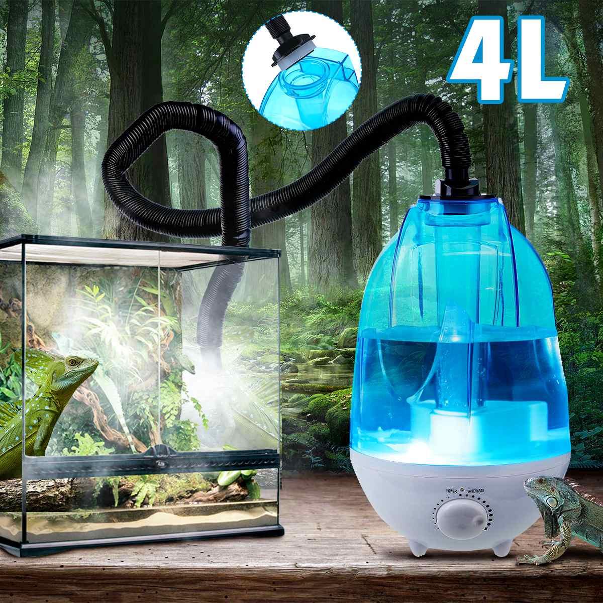 4L Large Capacity Amphibians Reptile Humidifier Fogger Vaporizer Fog Maker 100-240V Dropshipping