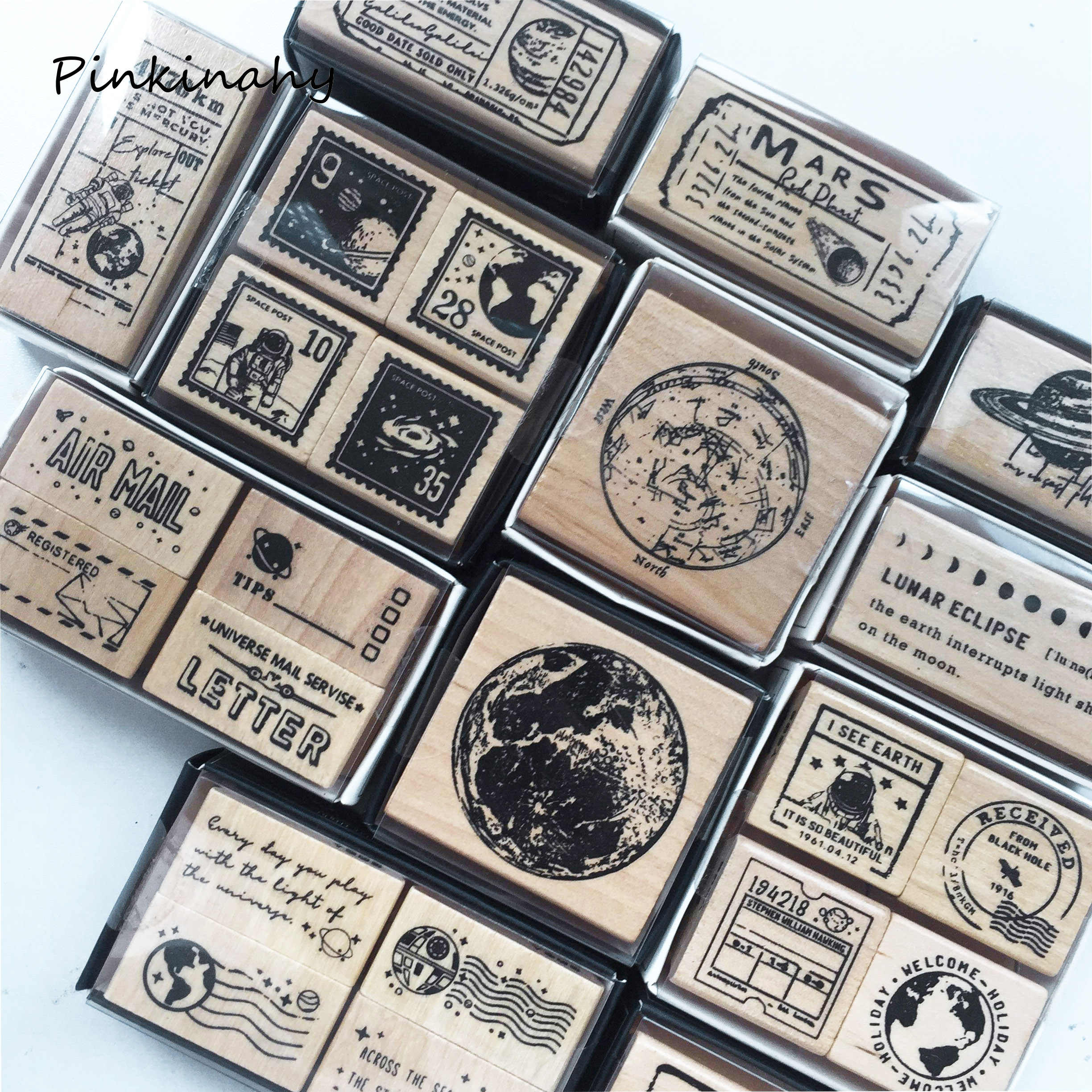 318 Decoration Wooden Rubber Stamp No