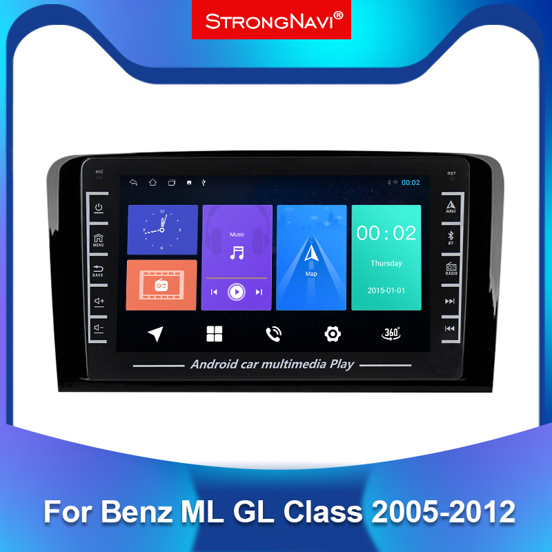 1280*720 IPS Android araba multimedya GPS radyo oynatıcı Mercedes Benz sınıf ML W164 X164 ML350 ML300 GL500 ML320 ML280 GL350