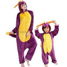 Frauen Spyro Onesies Niedlich Cartoon Tier Totoro Stich Pyjamas Erwachsene Mädchen Weiche Insgesamt Winter Nette Lustige Anzug Unisex Kostüme