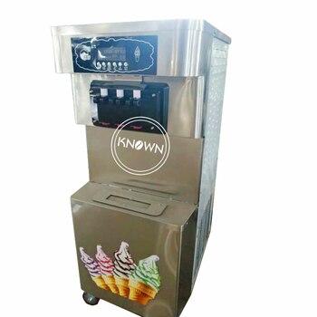 Экспортный стандарт 3 вкуса вертикальный 60л емкость мягкого мороженого Пломбир конус делая машину коммерческий автоматический Бесплатная ...
